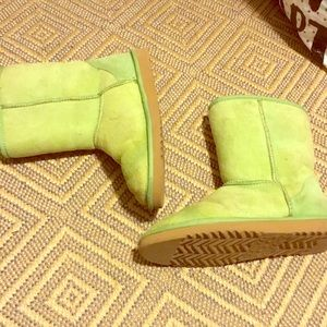 Unique lime green uggs
